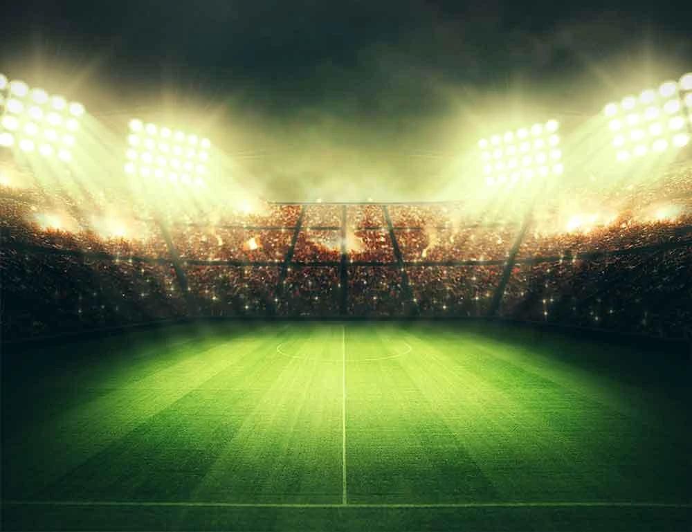 Green Lawn Stadium Lights Football Field Photo Backdrop Cm S 1167 E Photography Backdrops Backdrops Picture Backdrops