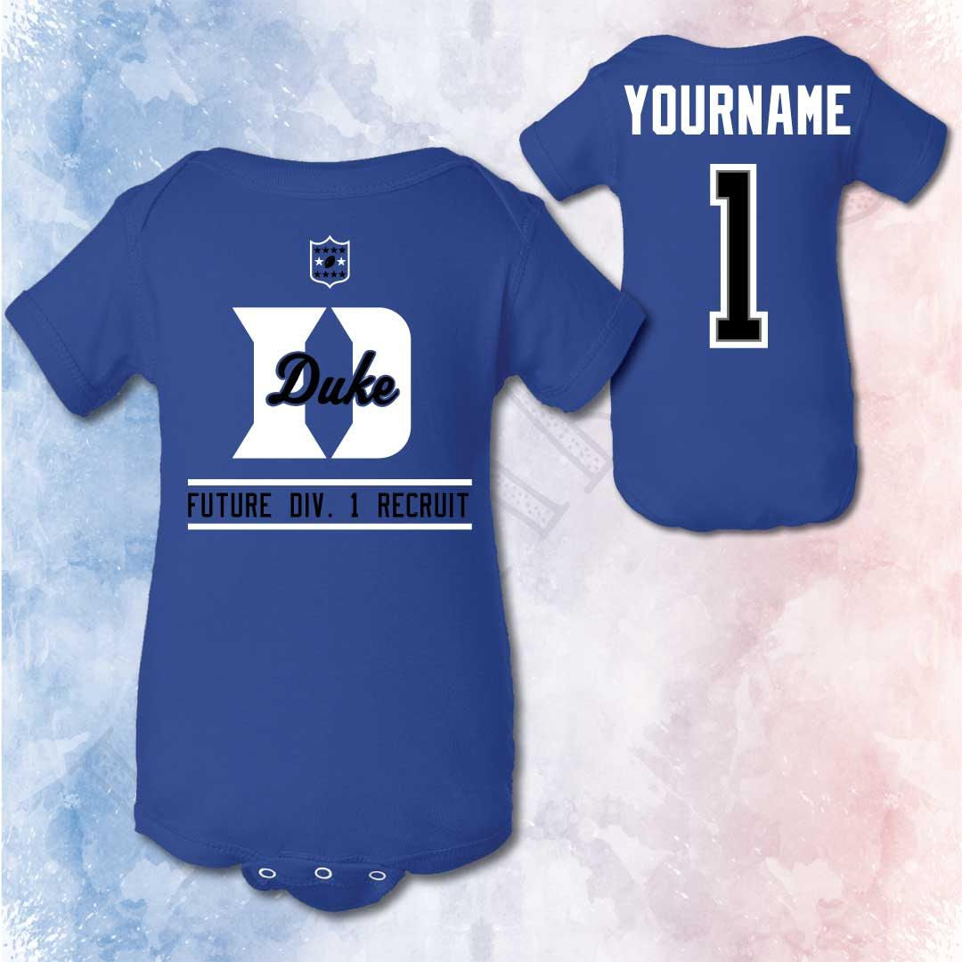 Duke Blue Devils Onesie Birth Announcement Duke Football Baby – Football Birth Announcements
