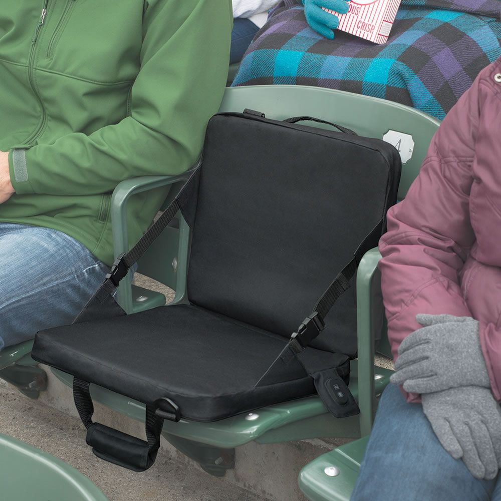 The Rechargeable Heated Massaging Stadium Seat Gadgets