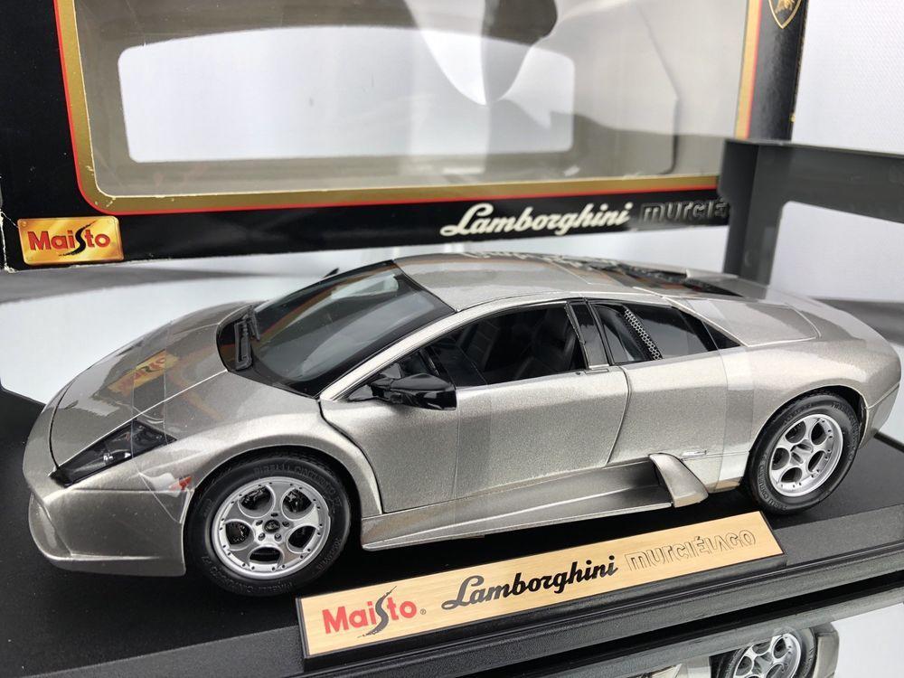Toys & Hobbies Contemporary Manufacture Lamborghini Murcielago Silver 1:18 Scale Special Edition Maisto Die Cast