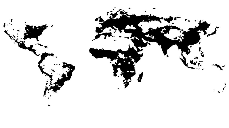 The World's Population Density, Visualized | Population maps