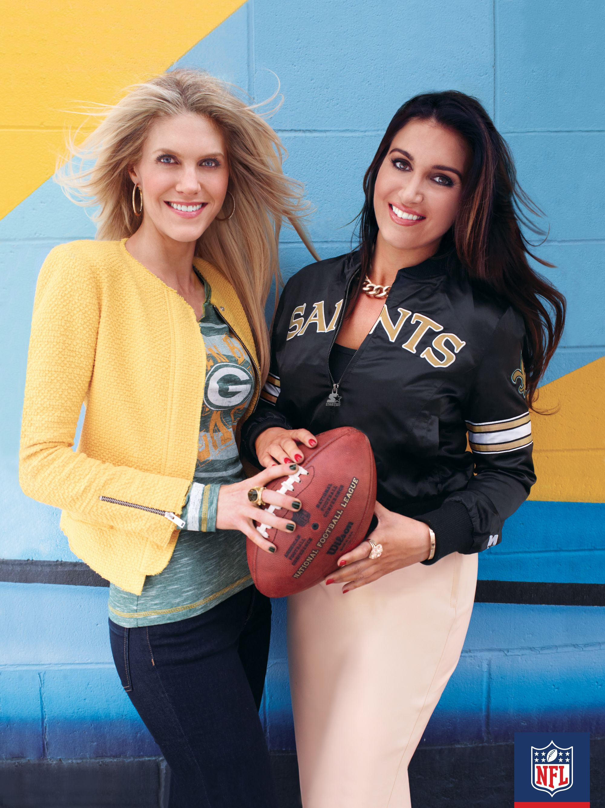 It's business and family with NFL-sibling Jennifer Matthews and NFL Network anchor Molly Qerim. Loving the way these two class-up some team #NFLFanStyle #contest