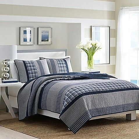 Nautica adelson quilt in navy at bed bath beyond | Bedroom Retreat ...