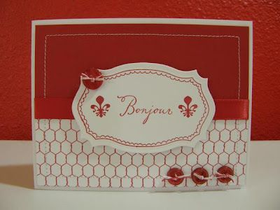 cute use of fleur des lis stamp