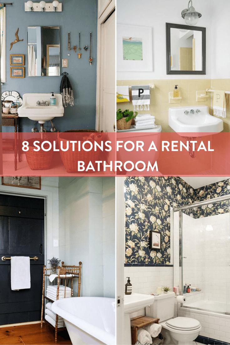 Rental Apartment Bathroom Ideas Brilliant Rental Roundup Solutions - Rental bathroom remodel