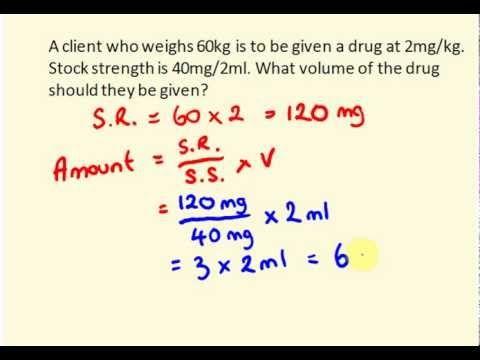 PHARMACOLOGY - Drug Dosage Calculation UNIT TEST # 2 - Version C ...