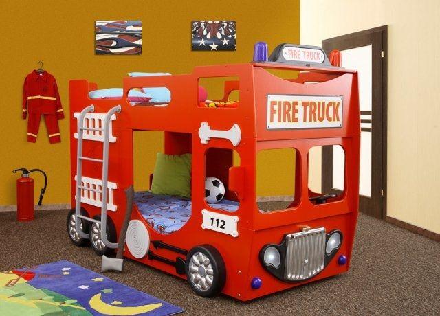 Letto a castello Camion dei Pompieri | Lettini a castello ...