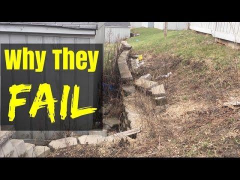 How Not To Build A Retaining Wall Building A Retaining Wall Landscaping Retaining Walls Diy Retaining Wall