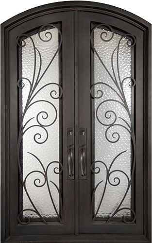 62x82 Summer Breeze Iron Double Door Beautiful Wrought