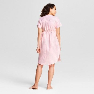 aa7a219d657c0 Maternity Gingham Dolman Tie Waist Shirt Dress - Isabel Maternity by Ingrid  & Isabel Pink Xxl