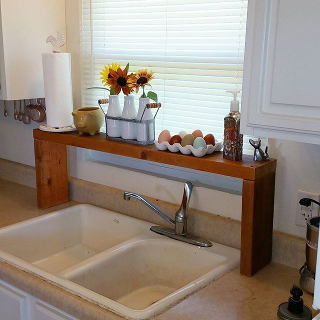 Diy Over The Sink Shelf Crafty In 2019 Pinterest Kitchen Sink