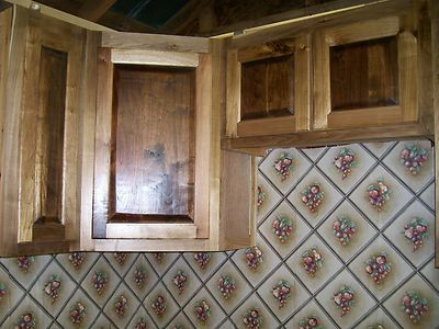 Rustic Kitchen Cabinets Sassafras Black Walnut Panels Ebay
