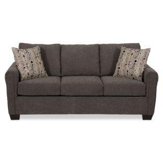 Spa Collection Chenille Condo Sofa Charcoal