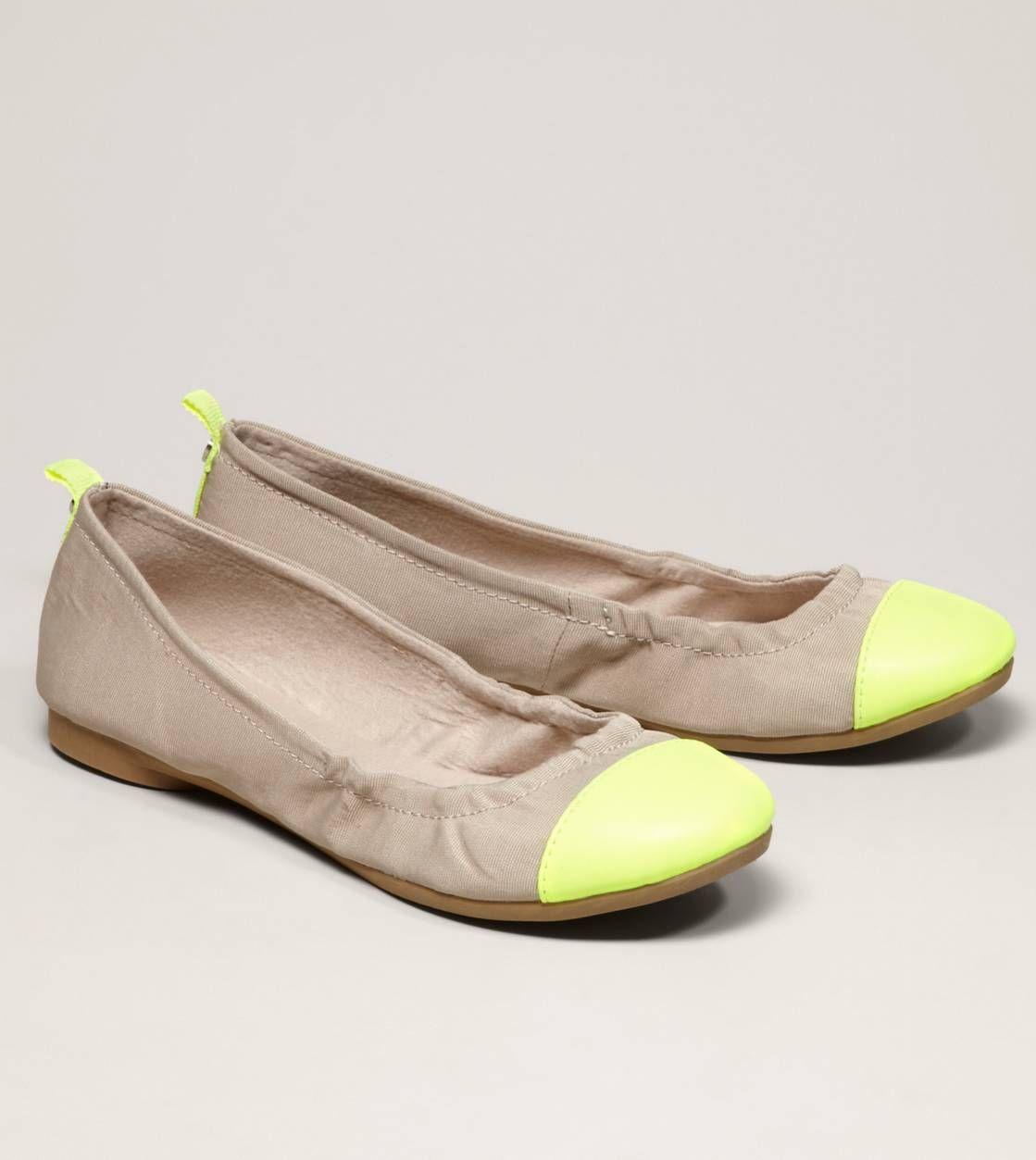 AEO Neon Cap-Toe Ballet Flat- i love love love love love love love love love flats.did i mention i love flats...........