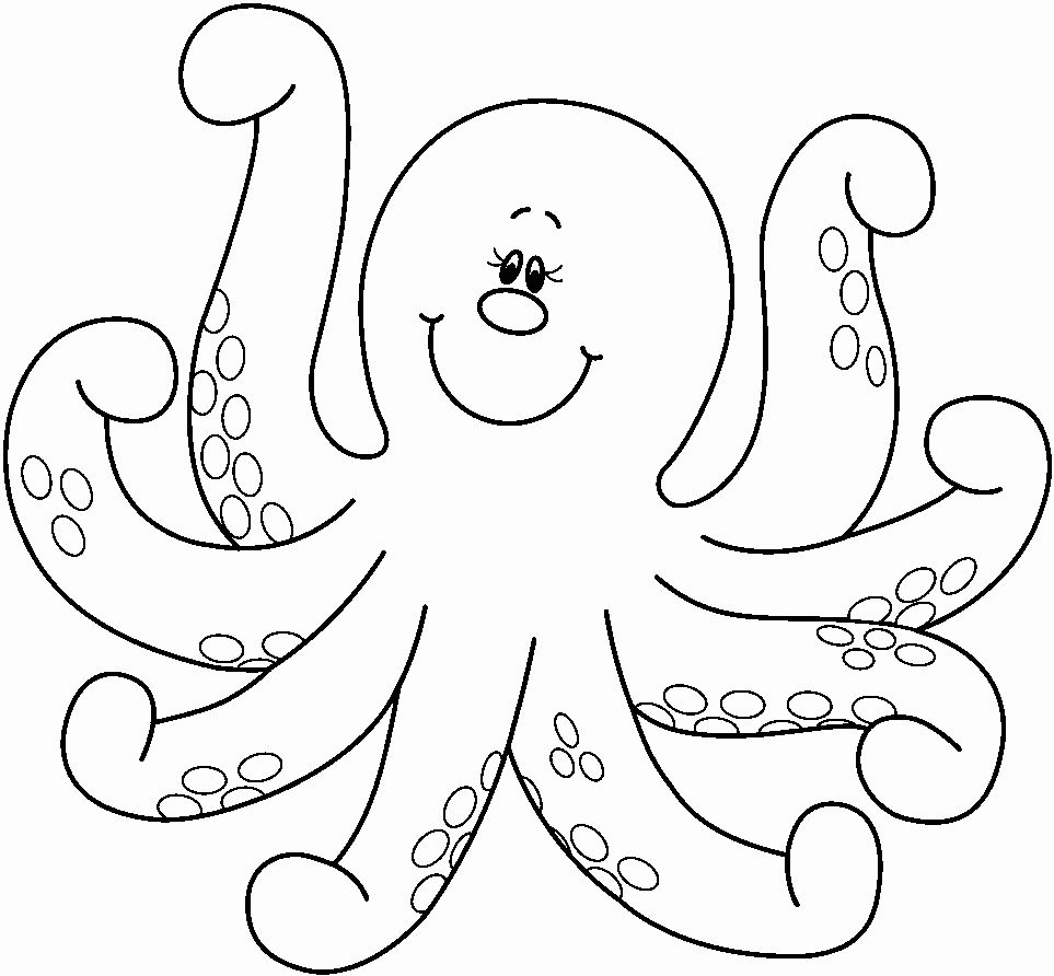 Animal Coloring Pages For Toddlers Elegant Octopus Coloring Pages Preschool And Kindergarten Artisanat De Poissons Coloriage Activite Poisson D Avril