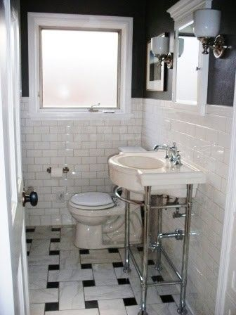 This Is Clever Diy Blown Up Basketweave Tile Like How It Is So Oversized Brilliance Diy Basketweave Basket Weave Tile Bathroom Makeover Vintage Bathrooms