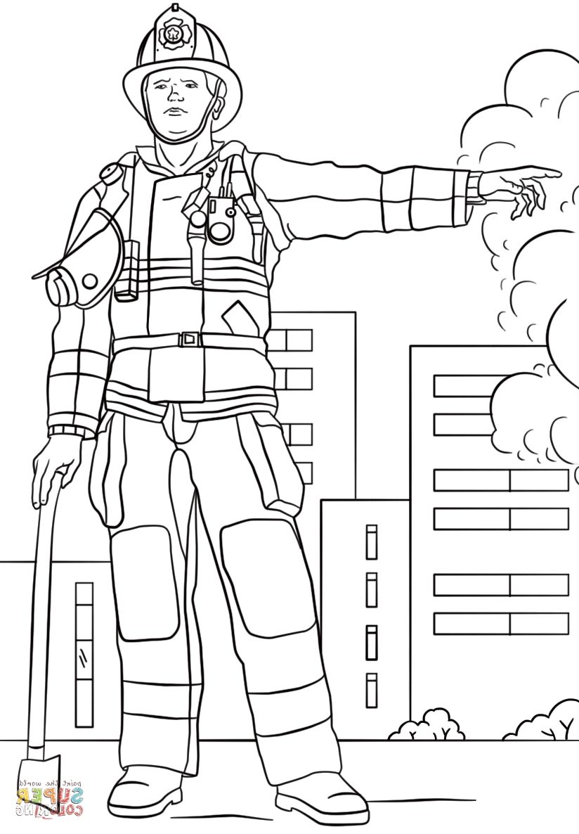 Firefighter Gear Coloring Page on a budget