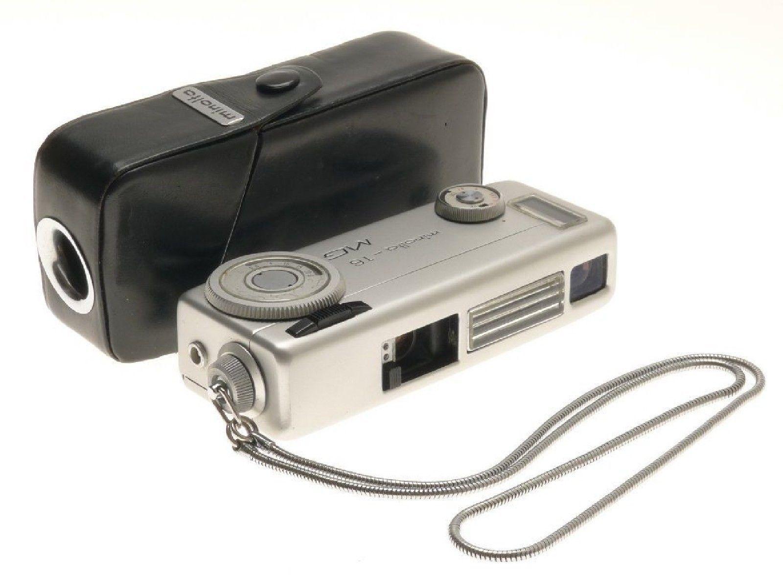 Minolta 16 Mg Subminiature Spy Camera Original Case Vintage Untested Sold As Is Ebay