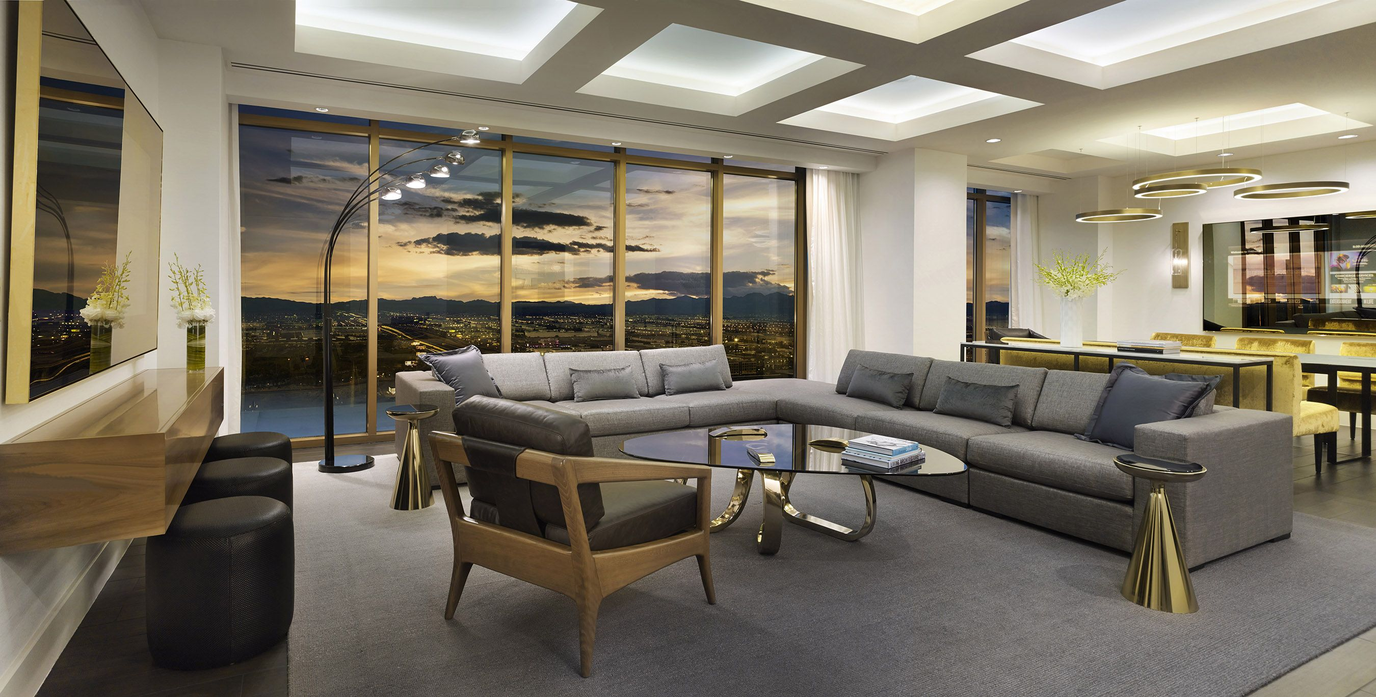 one of the suites found at the delano las vegas hotel. for more