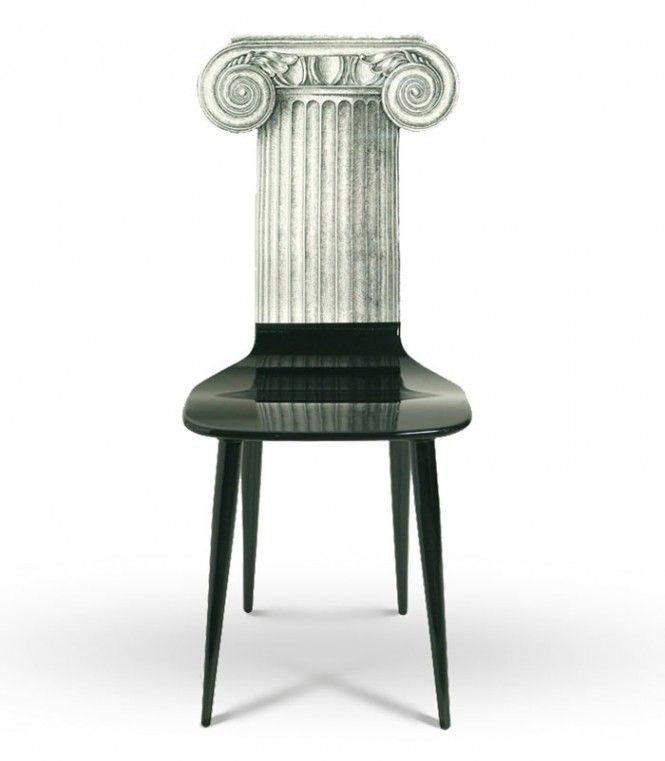 Chairs by Fornasetti.  www.italianways.com/surreal-chairs-by-piero-fornasetti/