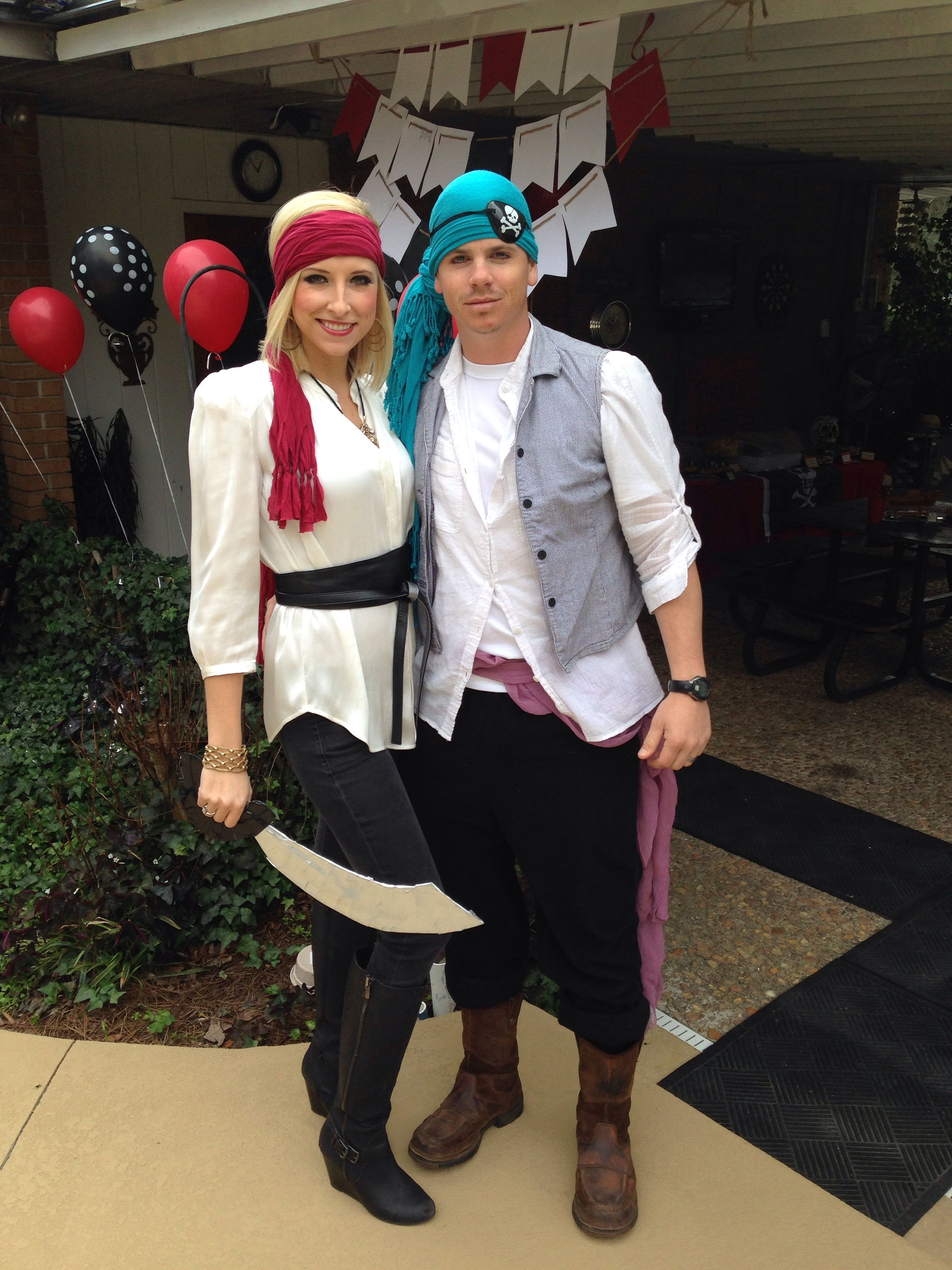 Adult Pirate costumes homemade for kids pirate birthday party