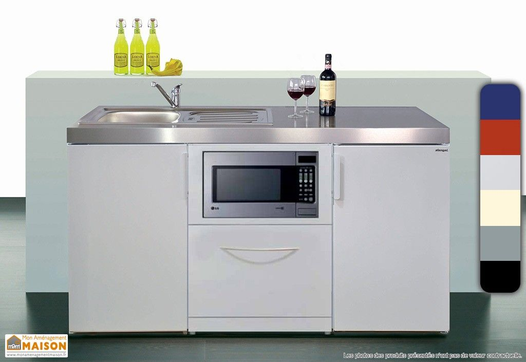 mini-cuisine avec micro-ondes et l-v mkgsm160 | espace cuisine
