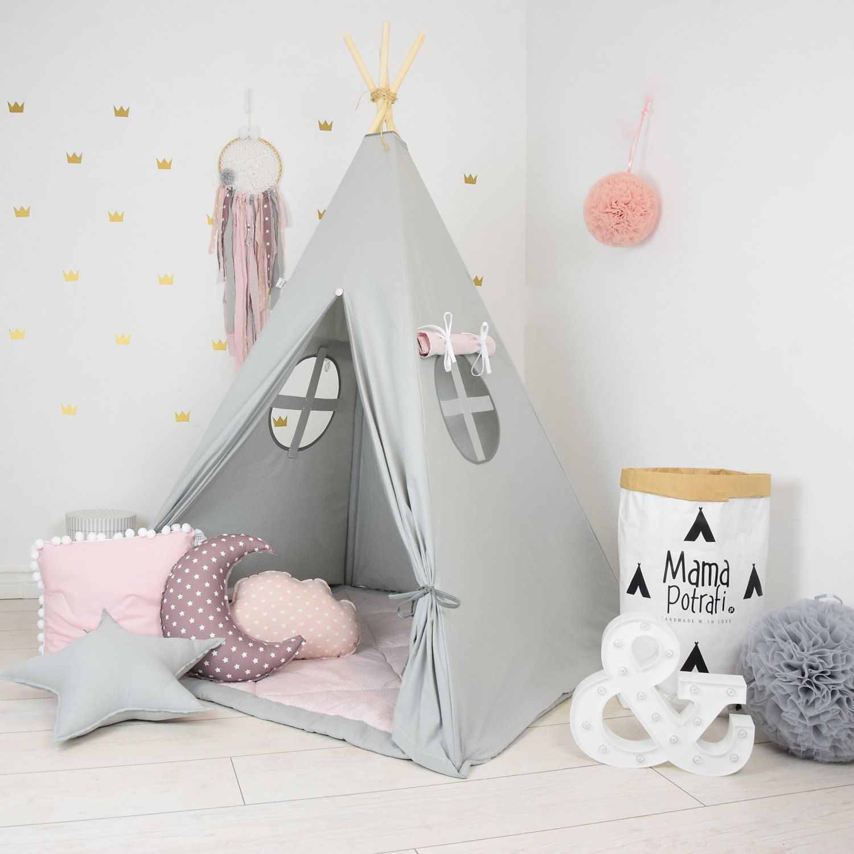 Teepee Set Kids Play Tent Tipi Kid Play Teepee Child Teepee Wigwam Zelt Tente  KIDS Lamp READING SPOT  Fig Princess