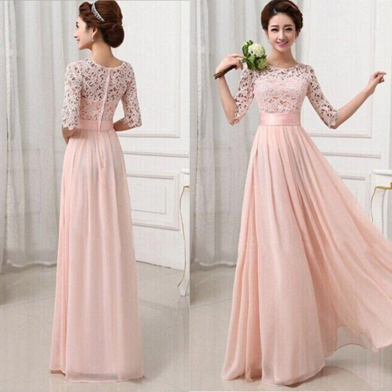Womens Long Sexy Evening Party Ball Prom Gown Formal Bridesmaid ...