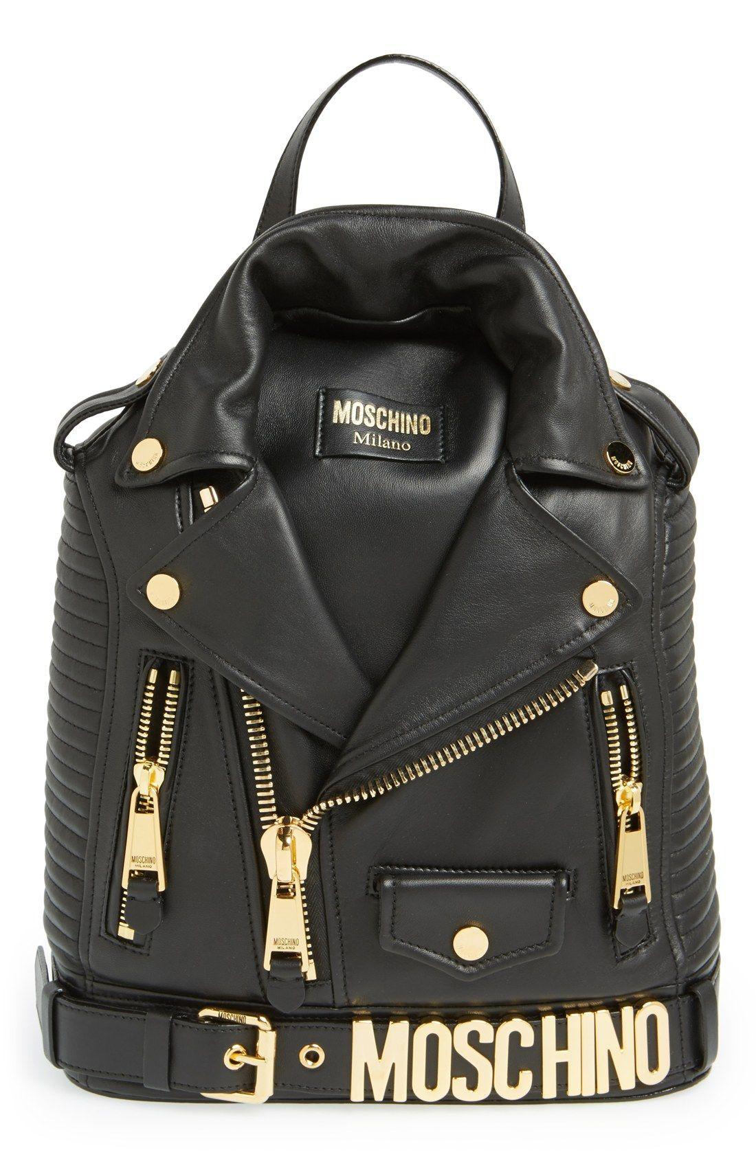 4bcc749ce8 Biker jacket meets backpack | Fashion | Bolsos cartera, Bolsos ...
