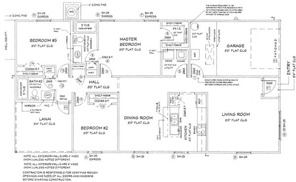 One level floor plans 3 bed examples of habitat homes for Habitat for humanity house plans