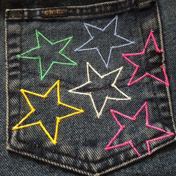 Star Pocket Jeans by Clothes On An Even Keel