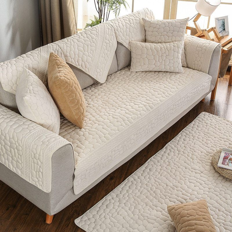 3d Stone Plush Pattern Sofa Cover In 2020 Sofa Covers Sofa