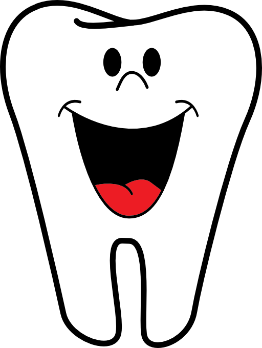 magnet happy tooth name badge without braces clipart free clip rh pinterest com tooth clip art free teeth clip art free