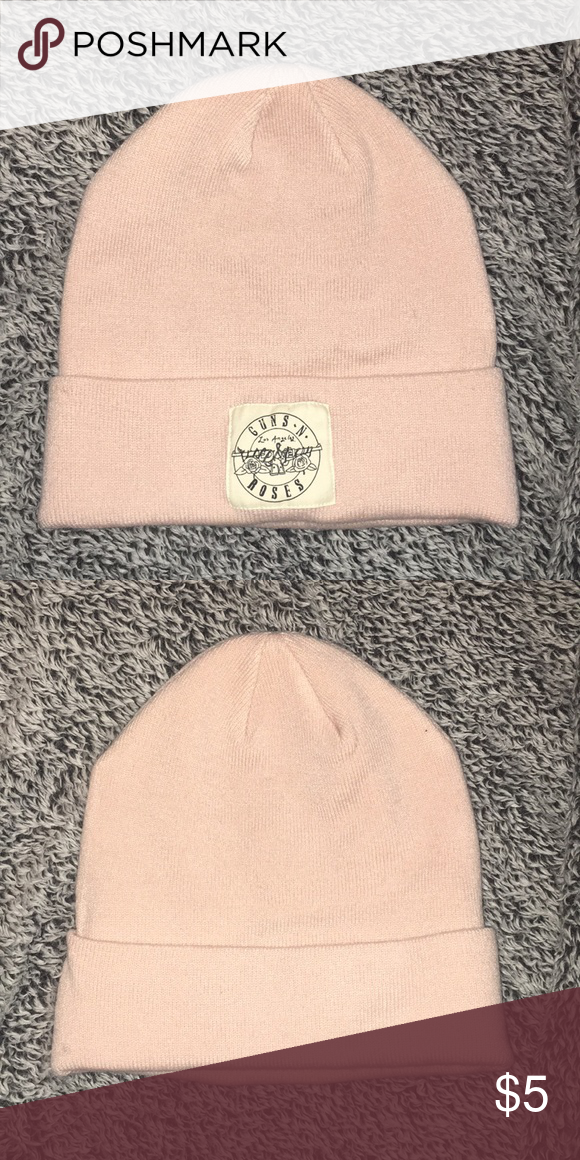 7b97eea6d Guns N Roses beanie Light pink Guns N Roses beanie/hat. Barely worn ...
