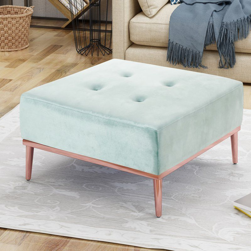 Abdallah Glam Tufted Cocktail Ottoman In 2020 Ottoman Cocktail Ottoman Furniture