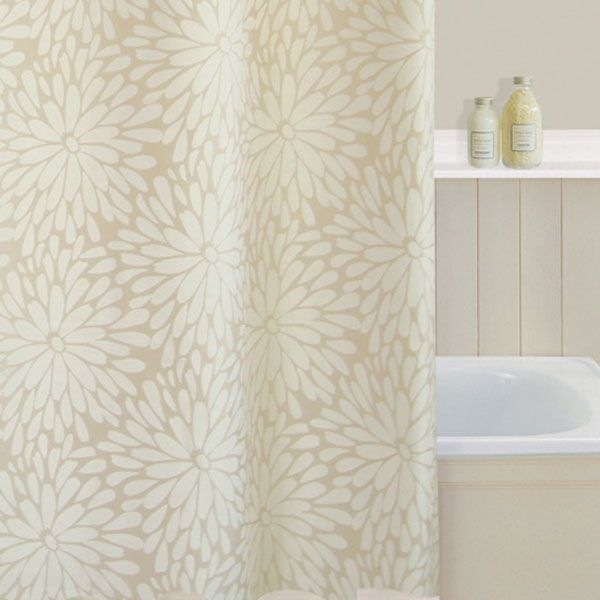 Beige Petals Shower Curtain Dunelm Mill Shower Curtain