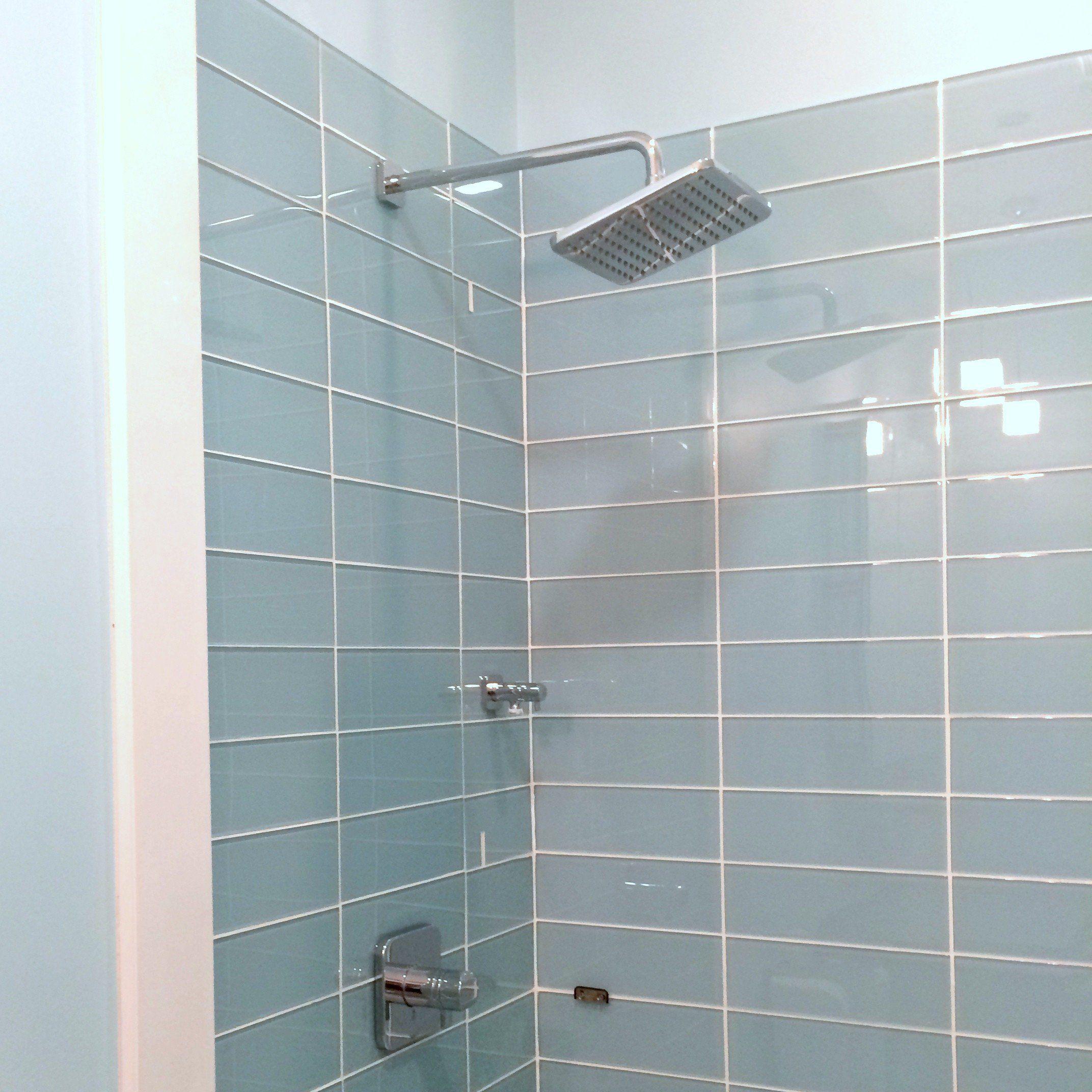 Bathroom Glass Subway Tile: Lush Vapor 4x12 Subway