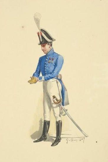 Tenete colonnello della guardia di Napoli del regno delle due Sicilie