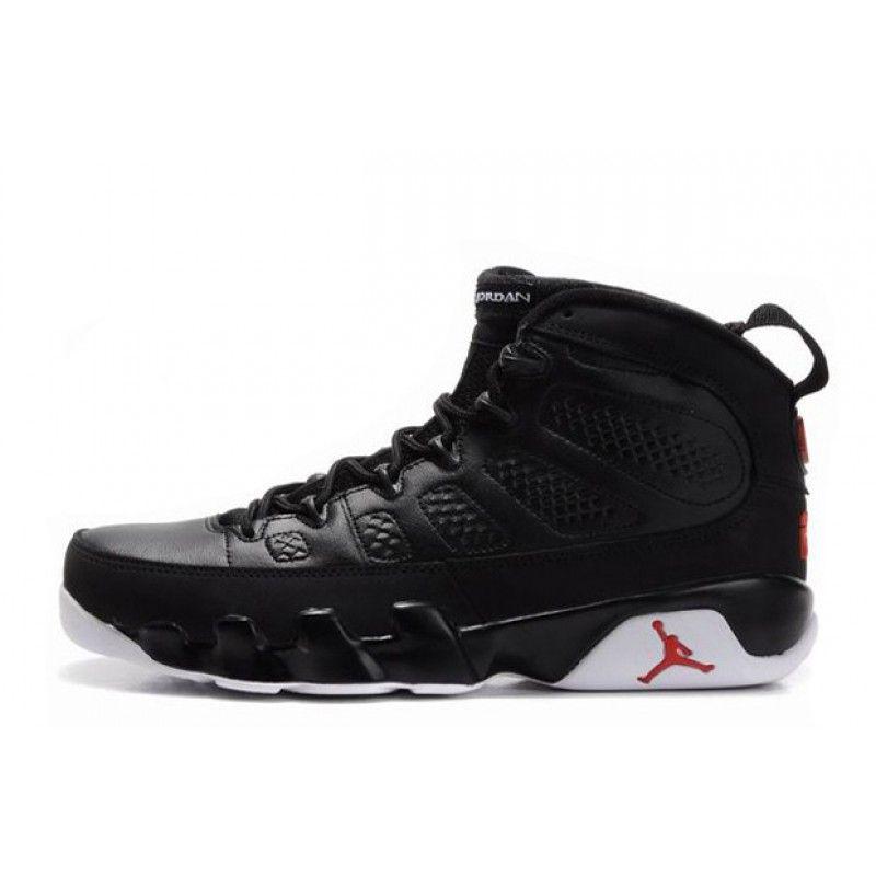 Black  Air Jordan 9 Retro BlackWhiteVarsity Red