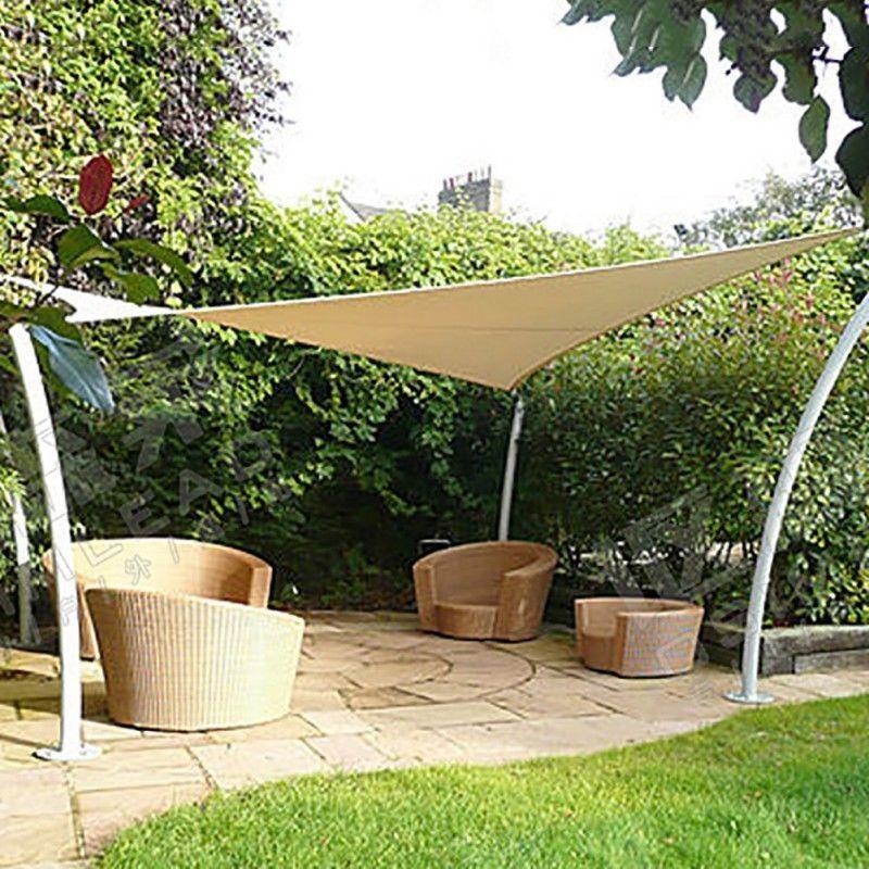 X X Triangle Awning Sun Shade Sail Fabric Patio Outdoor Canopy Cover In  Garden U0026 Patio, Garden Structures U0026 Shade, Shade Sails