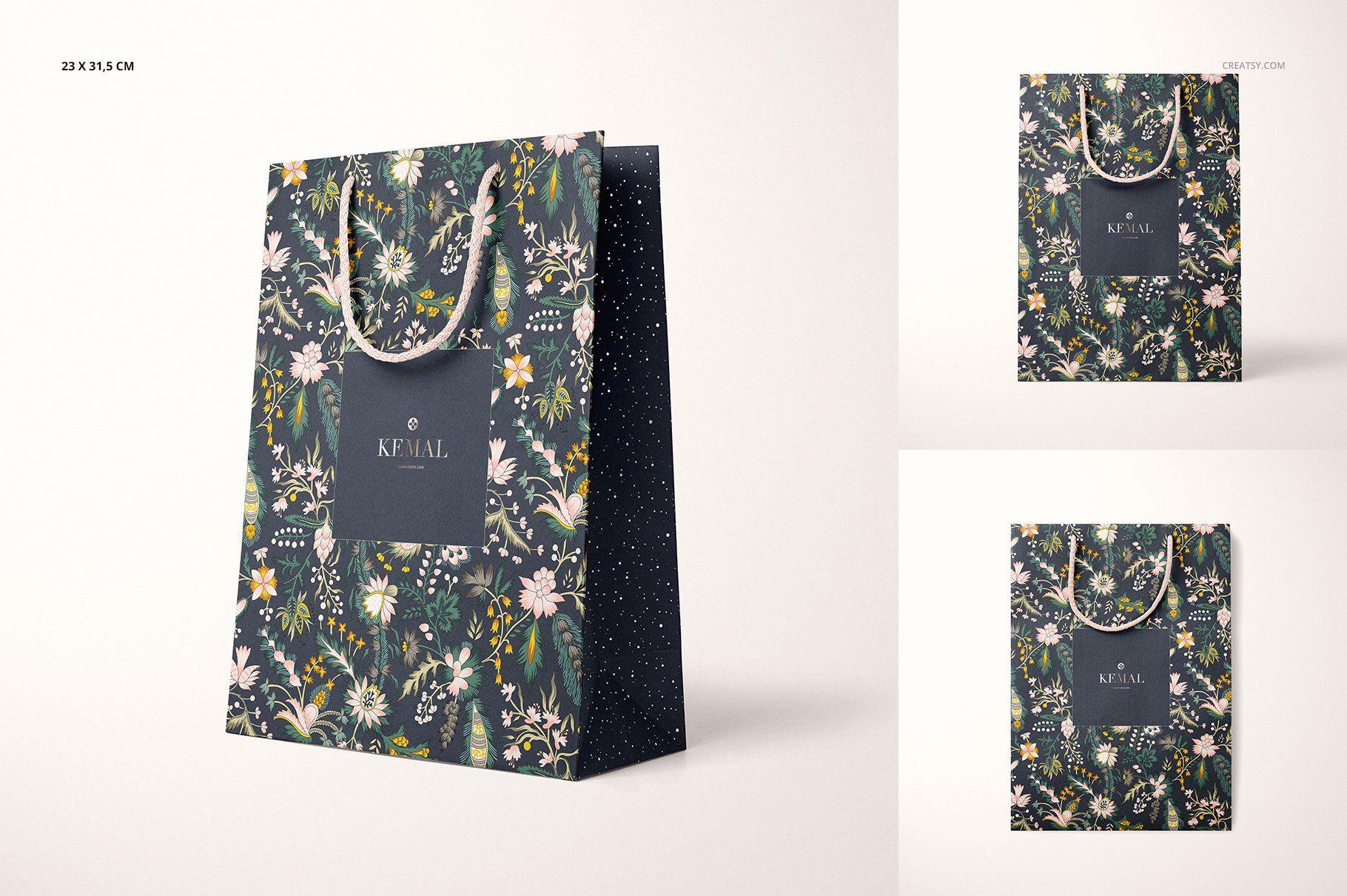 Download Paper Bags Mockup Set Bag Mockup Packaging Template Foil Stamping