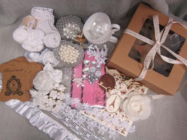 Sweet Cupcake Embellishment Kit - White by NatashaScrapbooKorner, $29.99 USD