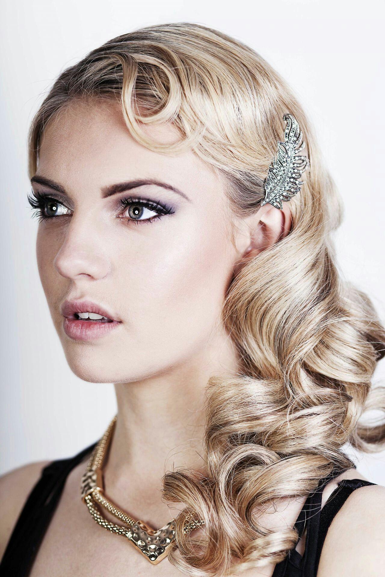 Gatsby Wedding Hair Style Roaring 20s Hairstyles Flapper Hair 1920s Long Hair