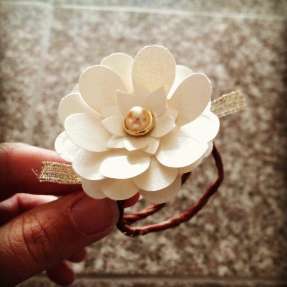 Paper Flower Napkin Rings Wedding Diy Flowers Napkin Rings Paper