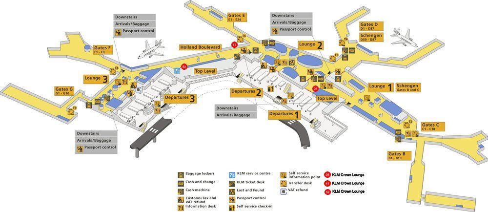 Aeroporto Amsterdam : Mappa aeroporto di amsterdam schiphol idee pinterest