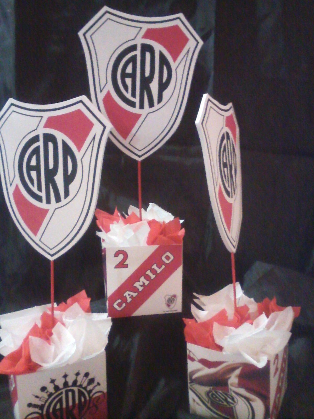 6a27bd153 Centro de mesa River Plate | Primer Añito Theo | Centro de mesa ...