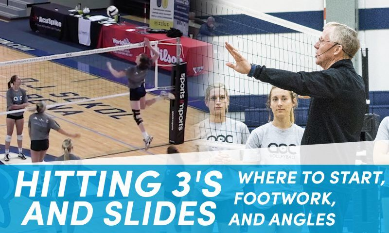 A 3 Step Slide Approach With Cary Wallin Volleyball Skills Volleyball Training Volleyball Practice