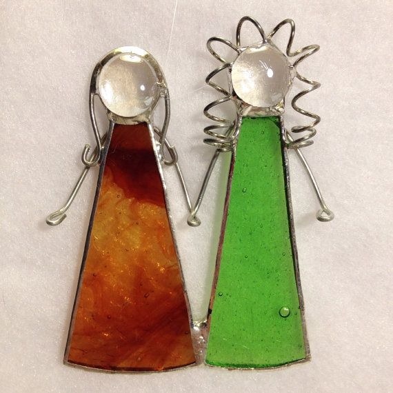 Stained Glass Ornament - Sisters/Best Friends on Etsy, $10.00