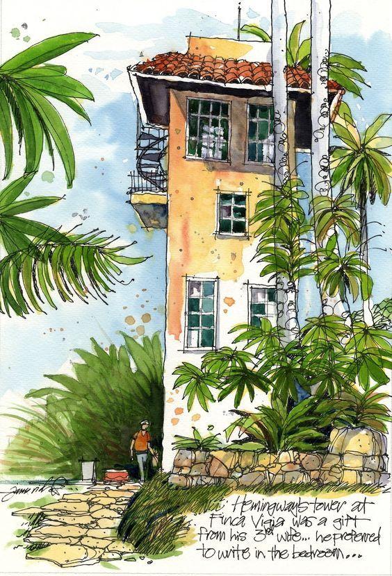 "James Richards Sketchbook: ""Hemingway's Cuba"" exhibition opens in the writer's Cuban home"