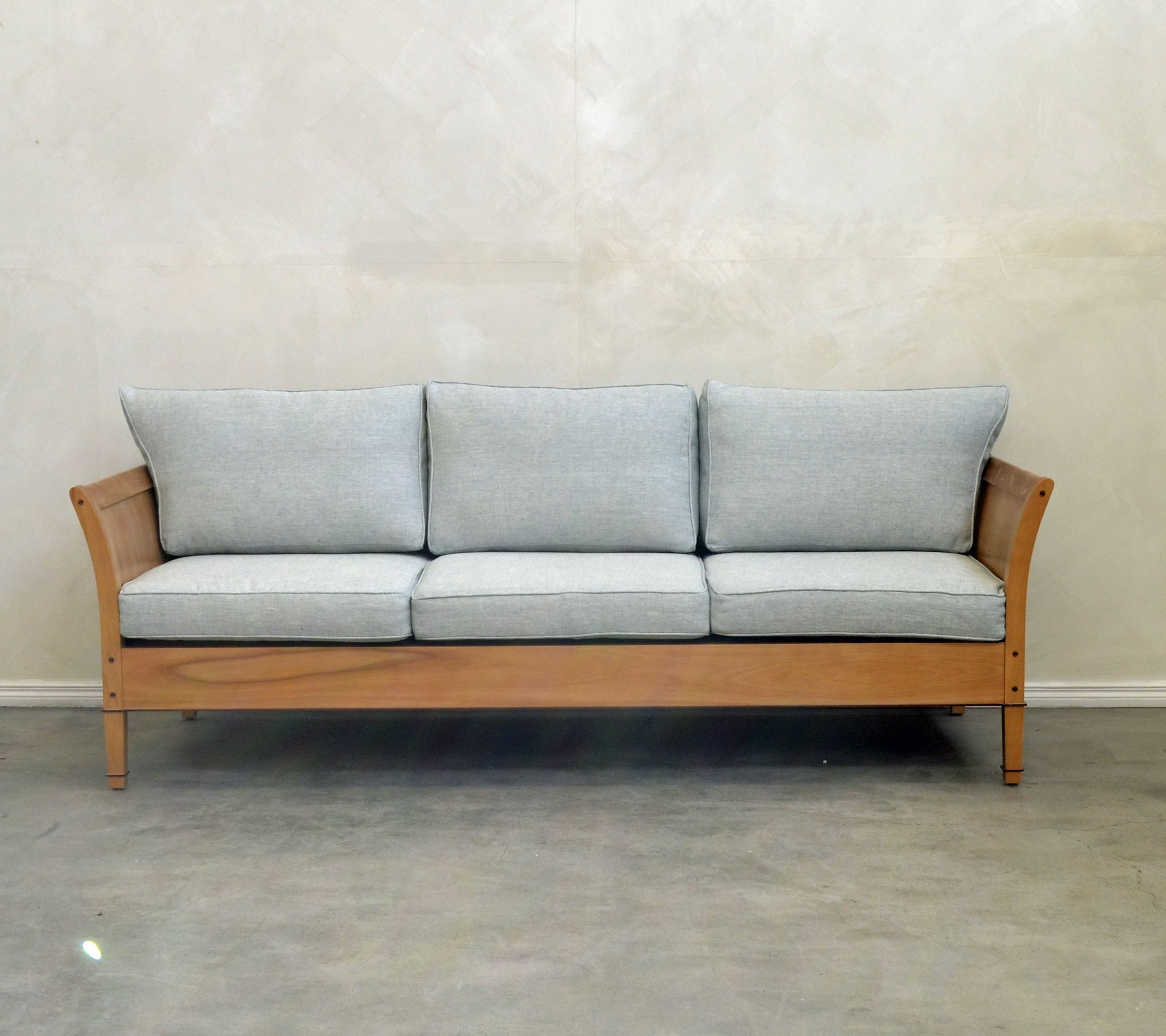 Timberside Sofa In Natural Linen By Rose And Heather Nz Sofa Outdoor Sofa Seating